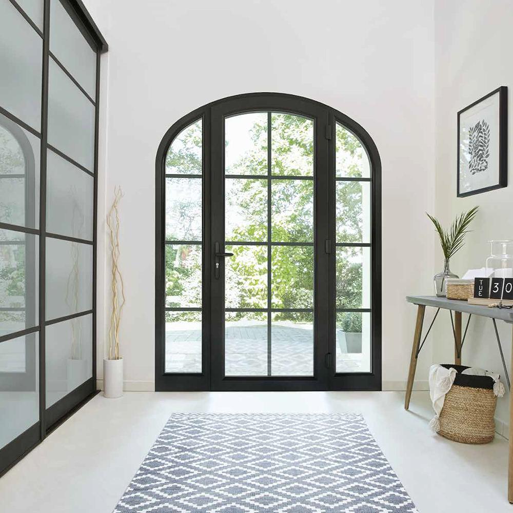 Porte fenêtre PVC Optimo avec petits bois | Esprit atelier | Koov