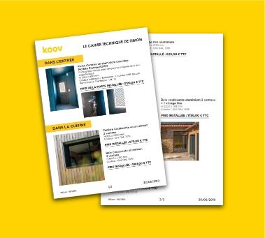 Exemple cahier technique projet de rénovation