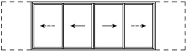 Koov forme fenetres galandage 2 rail 4 vantaux e1588618770575