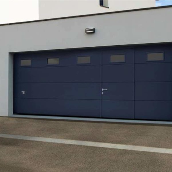 Koov porte garage sectionnelle portillon 01