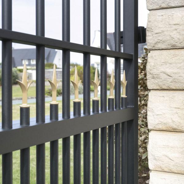 Portail aluminium ajoure quimper 06