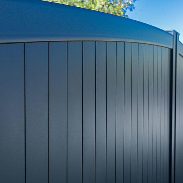 Portail aluminium plein tremen 02
