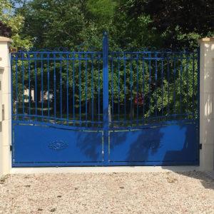 Portail aluminium semi plein berrrien 01
