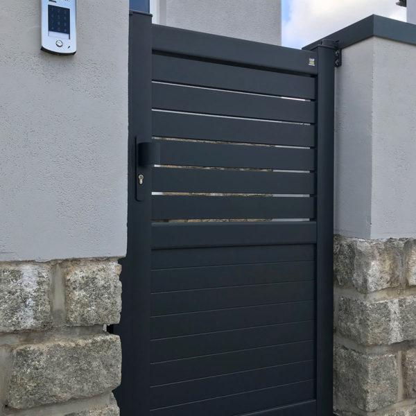 Portail aluminium semi plein diaouled 03