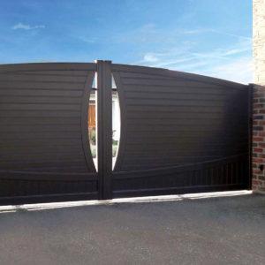 Portail aluminium semi plein youn 01